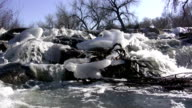 (Seamless Loop) Mountain Snowmelt Overflowing video