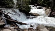 Mountain stream waterfalls P HD 0635 video