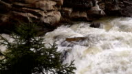 Mountain Stream with Waterfall video