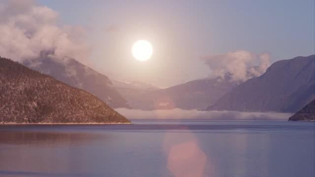 Mountain sunrise timelapse video