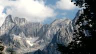 Mountain top. Time lapse. video
