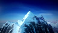 Mountain top with mountain climber video