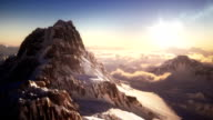 Mountain top with mountain climber video