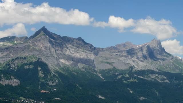 Mountain tops Haute Savoie Alps summer time lapse video