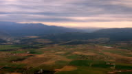 Mountain Valley Farmland Aerial video
