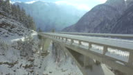 AERIAL: Mountain viaduct video