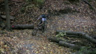 Mountainbike corner. video