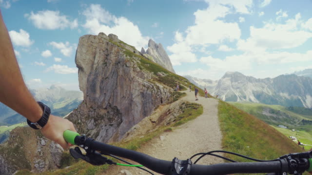 Mountainbike in high mountain video