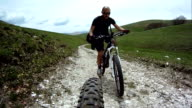 Mountainbike Rear Point of View video