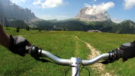 HD Mountainbiking on high mountain trail video
