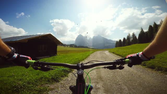 Mountainbiking on the Dolomites video