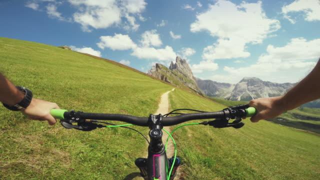 Mountainbiking on the Italian Alps Dolomites video