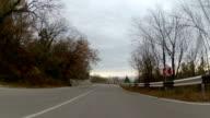 mountainous highway, GoPro video