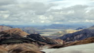 Mountains and valley in the national park Landmannalaugar. Iceland video