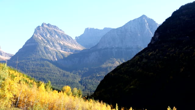 Mountains in Glacier National Park video