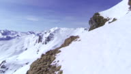 AERIAL: Mountains in winter video