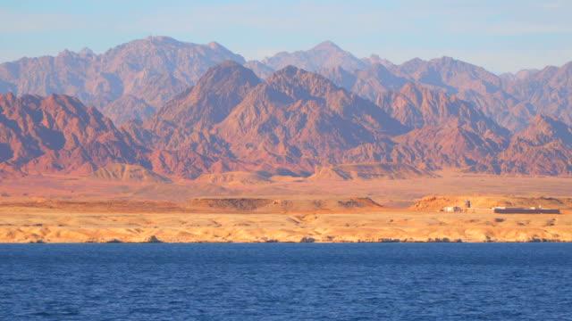 Mountains of the Sinai Peninsula on the desert coast video