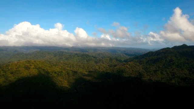 Mountains with tropical forest. Philippines Catanduanes island video
