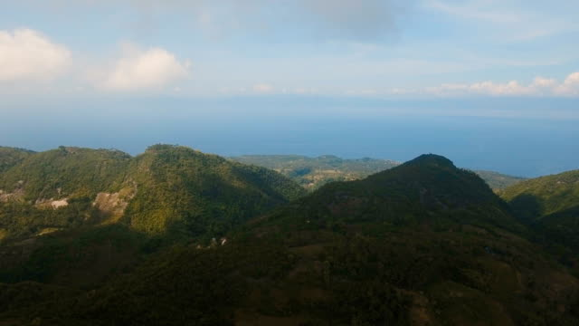 Mountains with tropical forest. Philippines Cebu island video