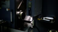 Mounted on spindle of CNC machine for processing, metal processing, in workshop video