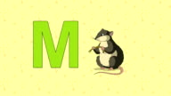 Mouse. English ZOO Alphabet - letter M video