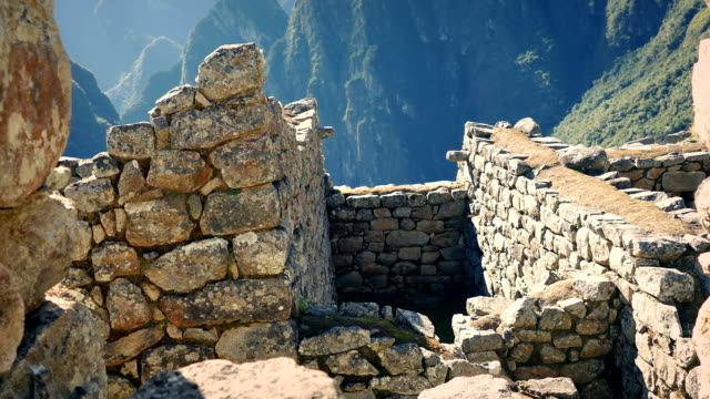 Move Through Ancient Building Ruins In The Mountains video