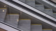 Movement up and down the escalator video