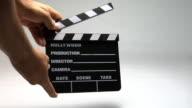 Movie clapper board video