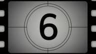 Movie countdown animation from ten to one. video