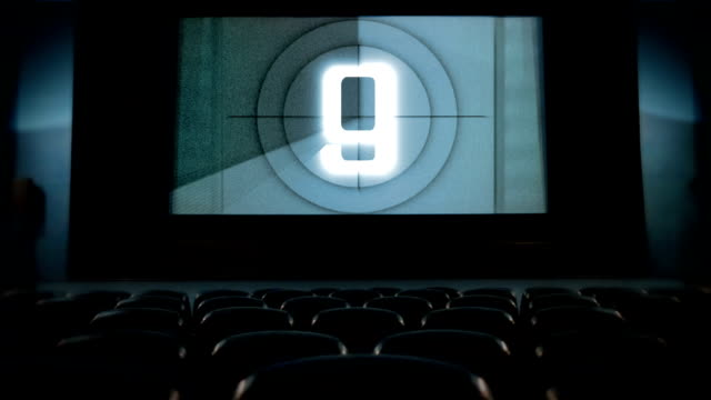 Movie countdown at cinema. video