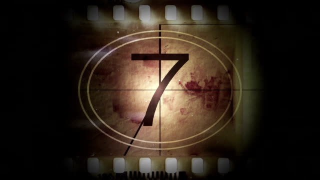 Movie film with a countdown video