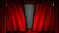 Movie theater curtain video