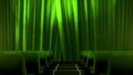 Movie theater with luma/alpha matte (close up, green) video