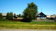 Moving along a village in Altay, Russia (POV) video