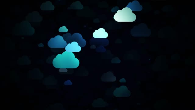 moving cartoon clouds,  3D animation video