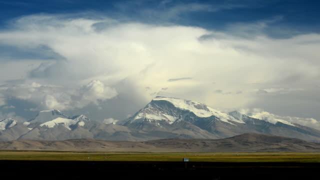 Moving cloud over Namonani peak, Himalayas range, Tibet video