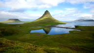 Moving cloud over the Kirkjufell mountain (Time-lapse), Iceland video