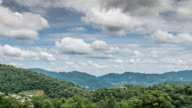 Moving cloud time-lapse of mountain country site in Thailand video
