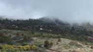 Moving Clouds. Mediterranean Landscape video