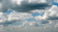 Moving clouds Timelapse. Loopable video