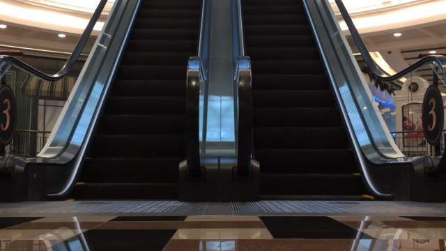 moving escalator down video
