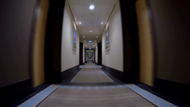 Moving Forward the Long Passageway in Hotel video