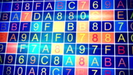 moving hexadecimal data loopable background video