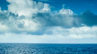 Moving Ocean Scape with Majestic Clouds and Blue Water video