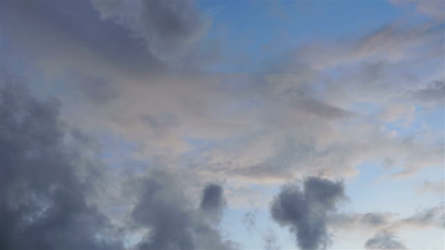 Moving of White clouds in blue sky Timelapse. video