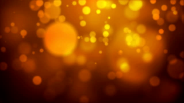 Moving Particles - Golden HD video