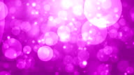 Moving Particles Loop - Abstract purple bokeh hd background video