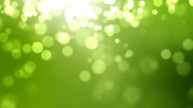 Moving Particles Loop - Green (HD 1080) video