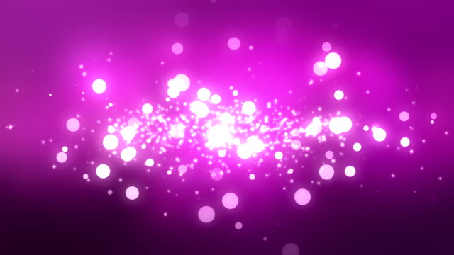 Moving Particles Loop - Purple Shiny Bokeh Background video