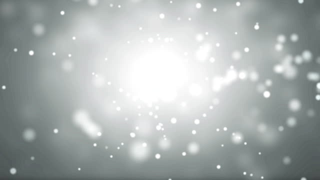 Moving Particles - white. video